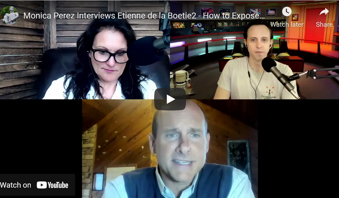"Monica Perez Interviews Etienne de la Boetie2 – How to Expose the Organized Crime ""Government"""
